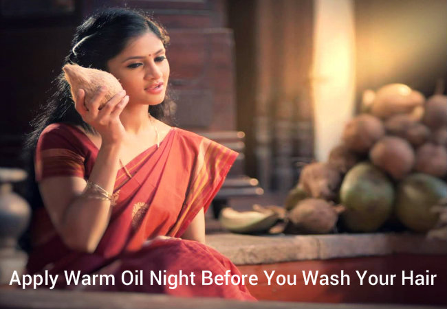 Apply Warm Oil Night Before You Wash Your Hair
