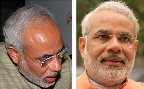 Narendra Modi Hairline Changes